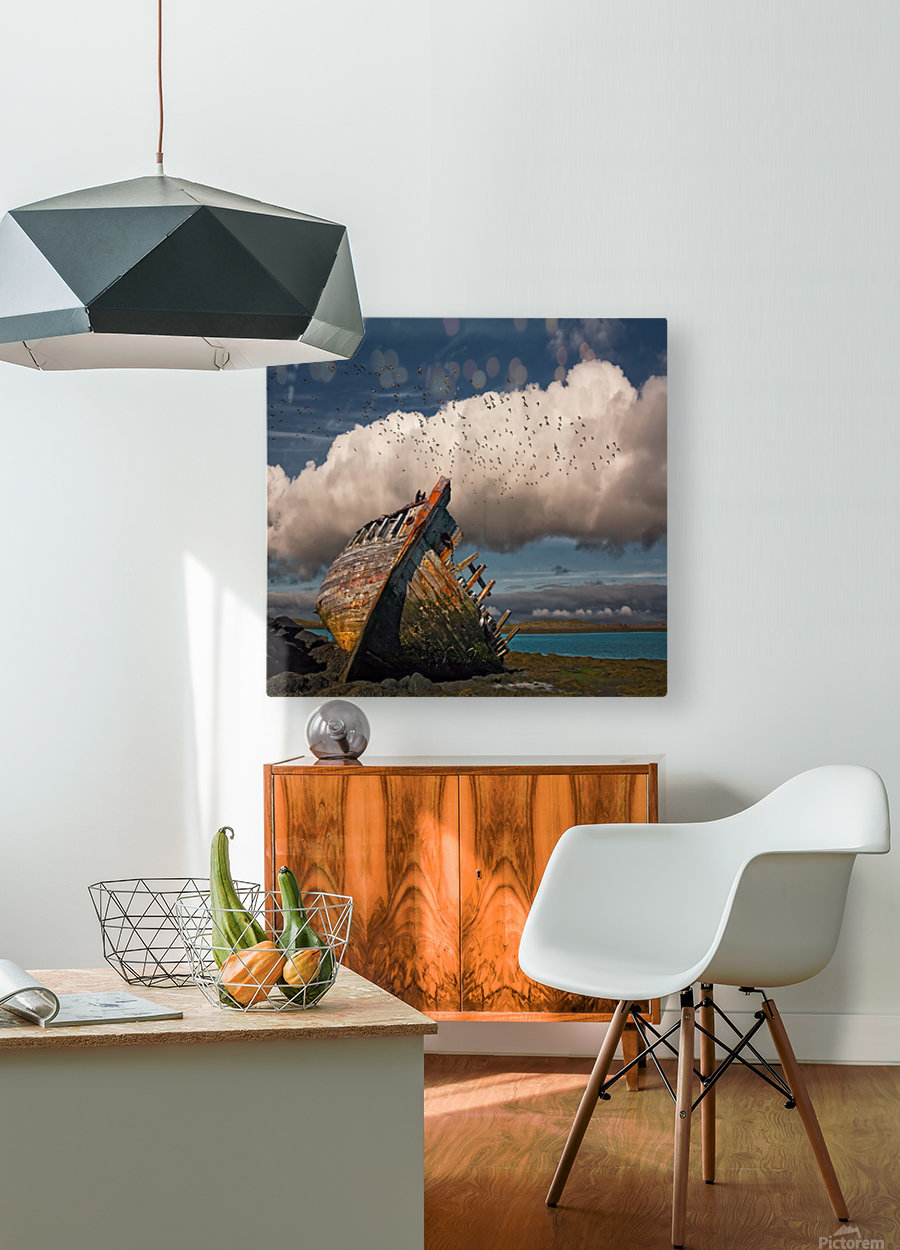 Placid  HD Metal print with Floating Frame on Back