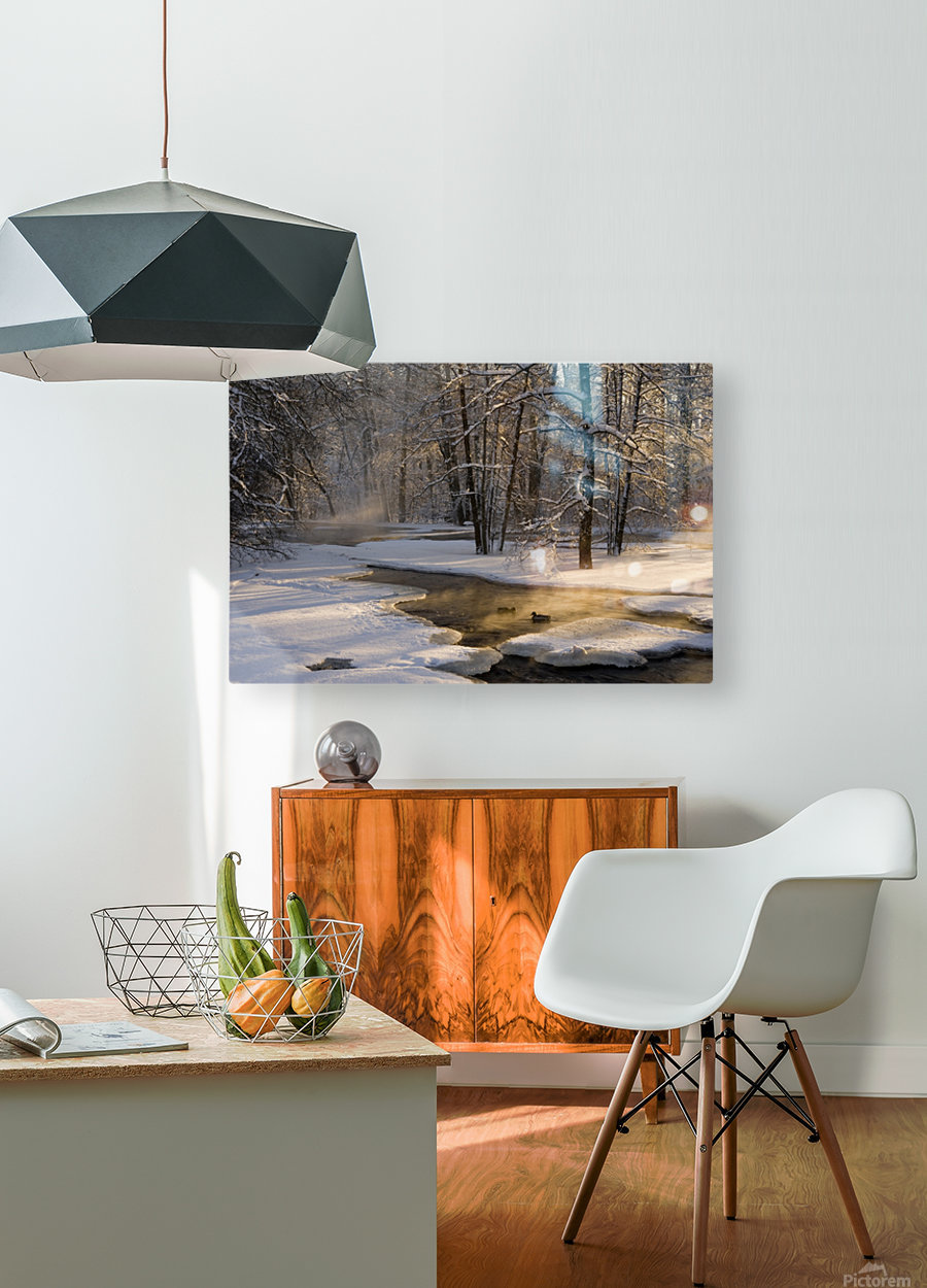 The first light  HD Metal print with Floating Frame on Back