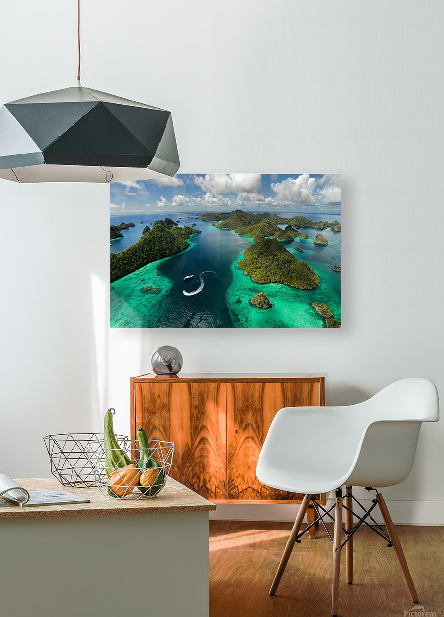 Green paradise  HD Metal print with Floating Frame on Back