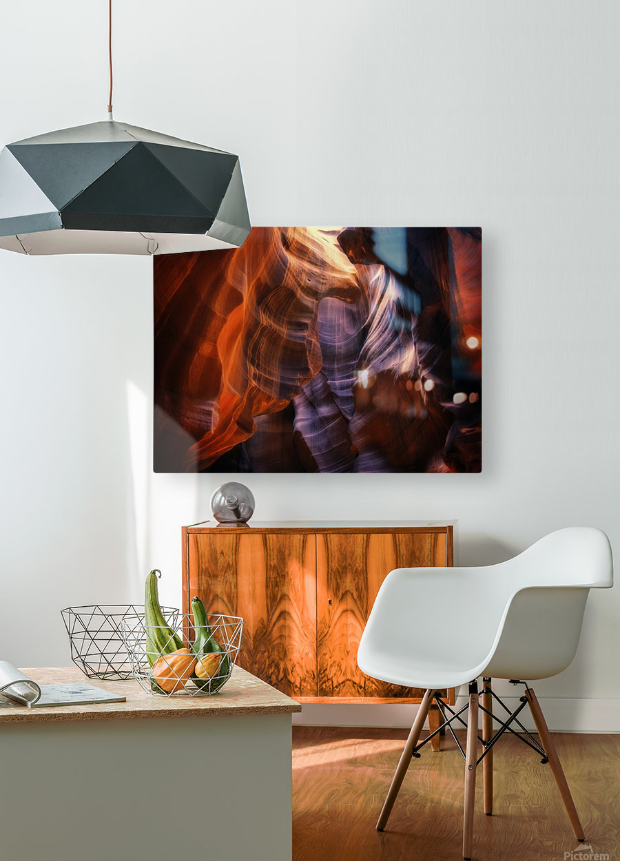 Light Up Above  HD Metal print with Floating Frame on Back
