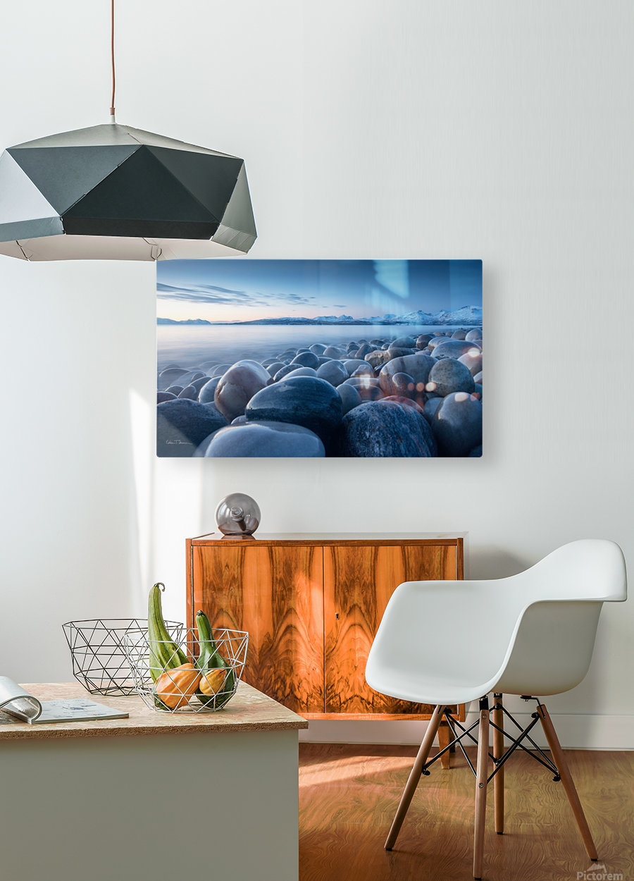 An ocean of time  HD Metal print with Floating Frame on Back