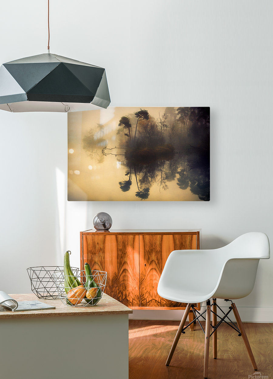 My place  HD Metal print with Floating Frame on Back