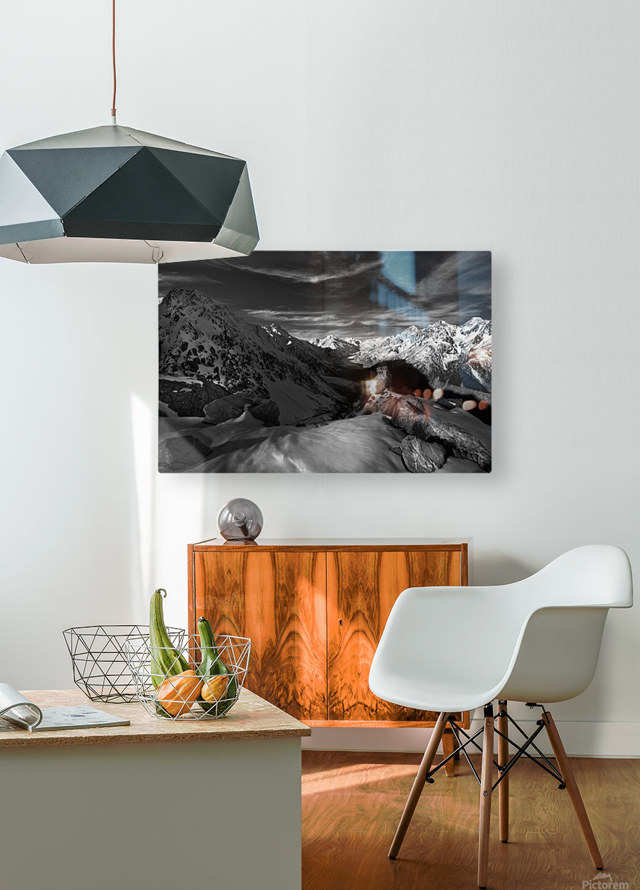 Spectrum of Light  HD Metal print with Floating Frame on Back
