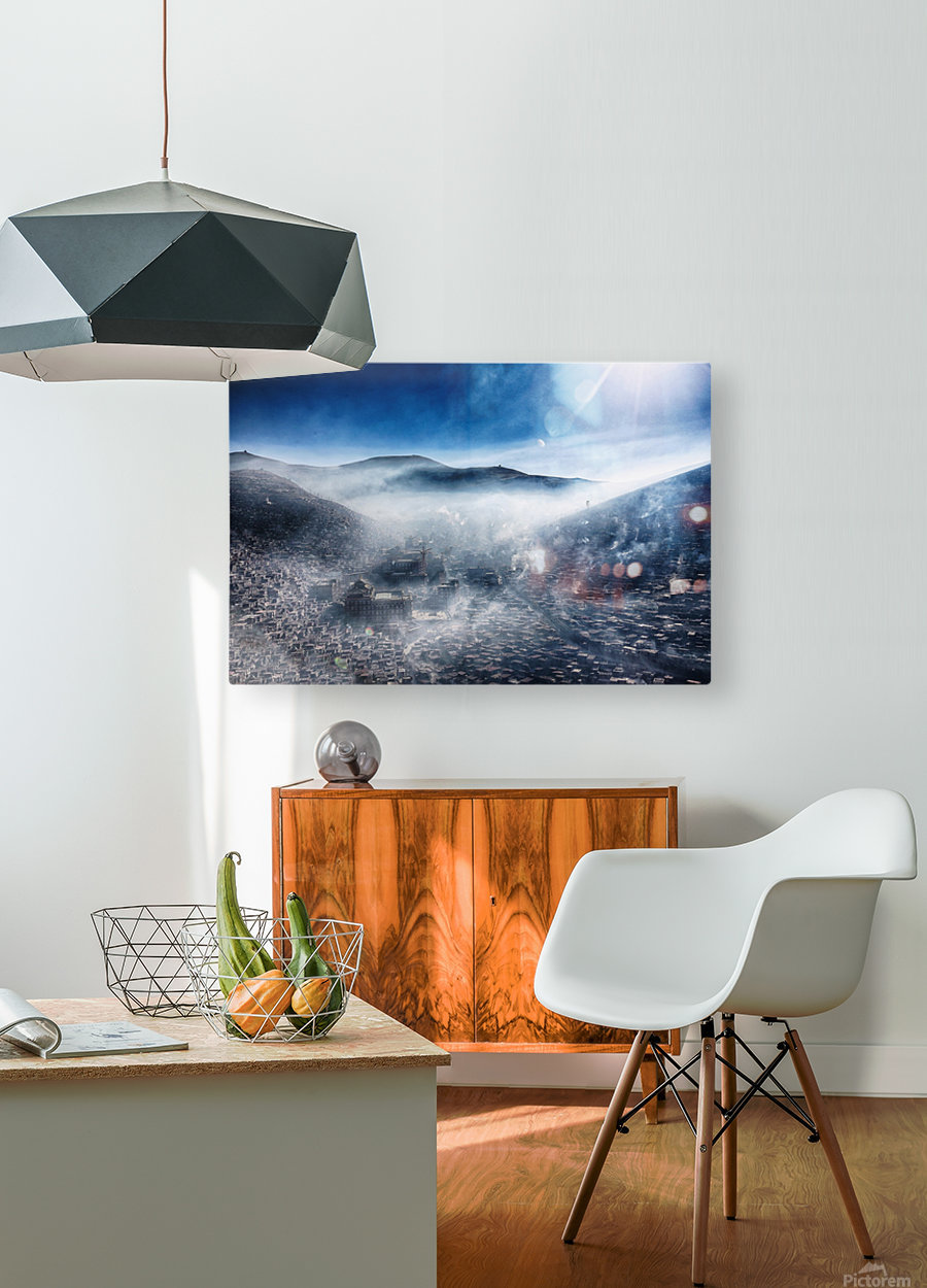 Good morning, Loose  HD Metal print with Floating Frame on Back
