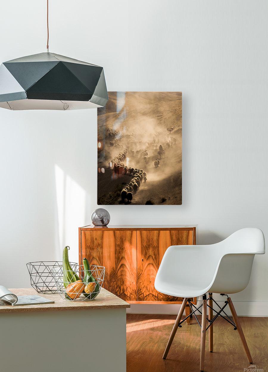 Tozlu Yolculuk  HD Metal print with Floating Frame on Back