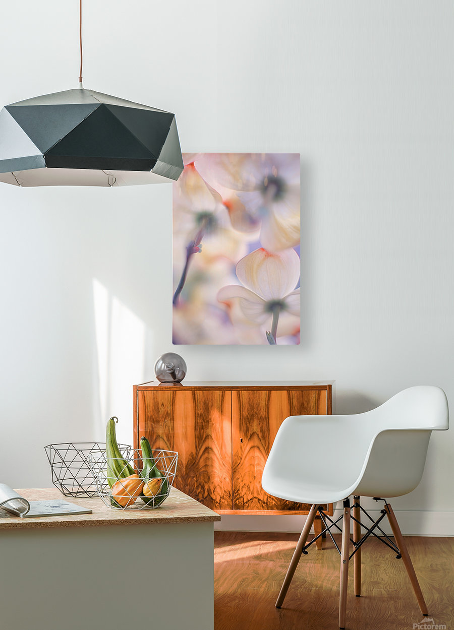 Under the skirts of flowers  HD Metal print with Floating Frame on Back