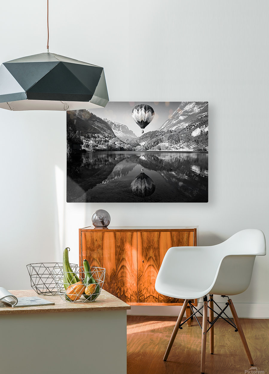 La mongolfiera  HD Metal print with Floating Frame on Back