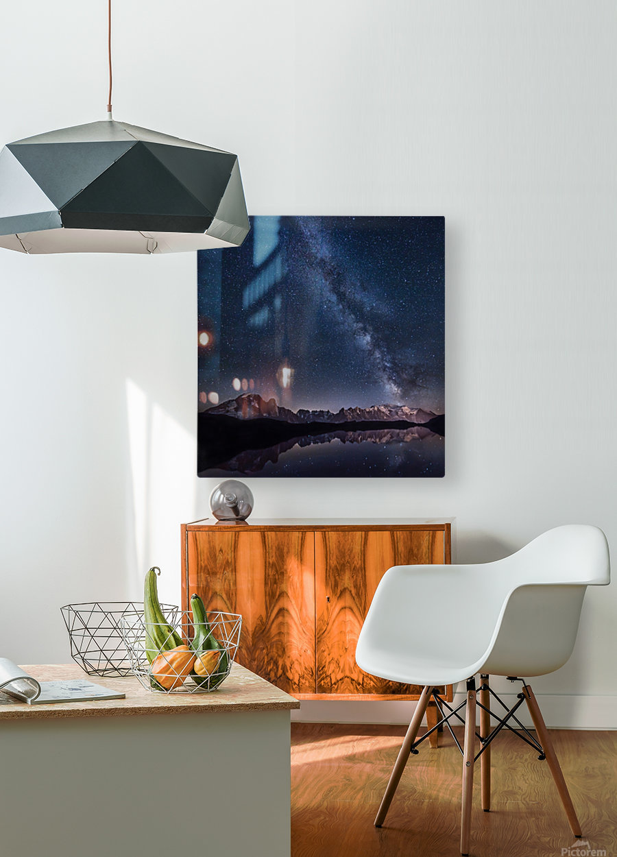Lost in the stars  HD Metal print with Floating Frame on Back