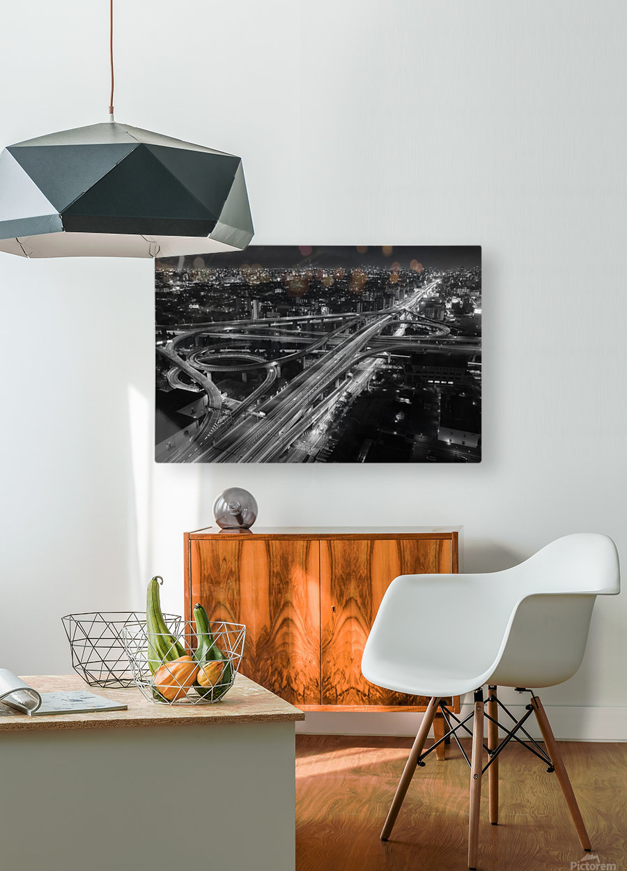 motorway  HD Metal print with Floating Frame on Back