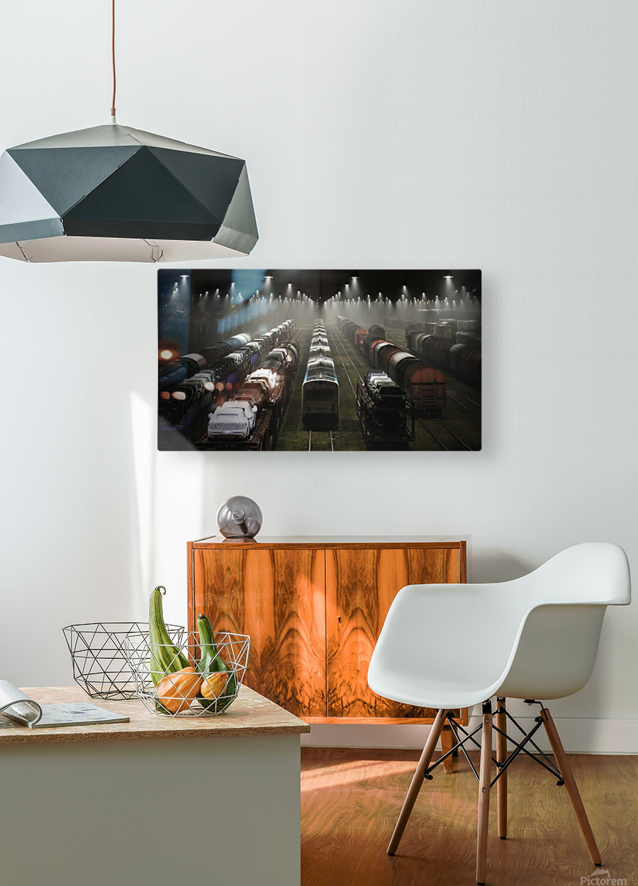 Trainsets  HD Metal print with Floating Frame on Back