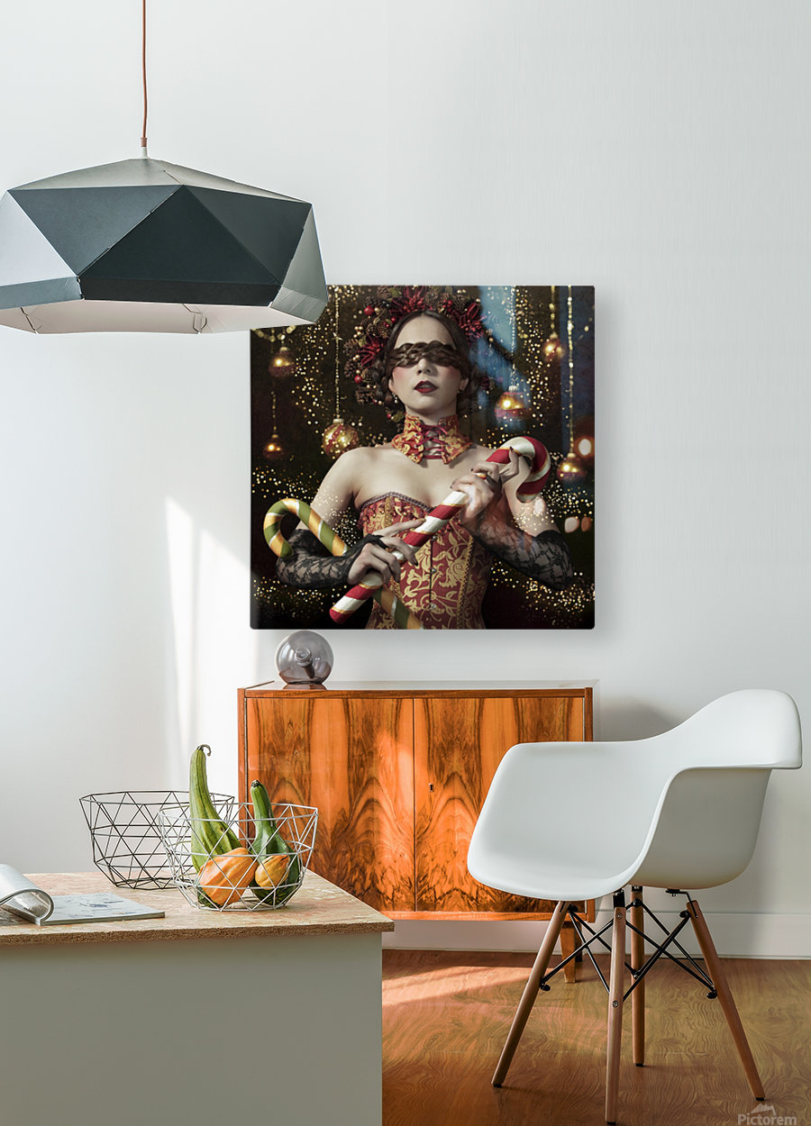 Mistress of the bright night  HD Metal print with Floating Frame on Back