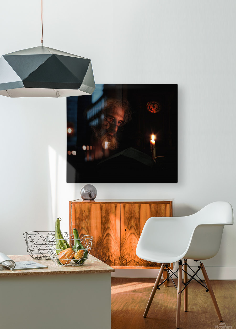 Midnight Story  HD Metal print with Floating Frame on Back