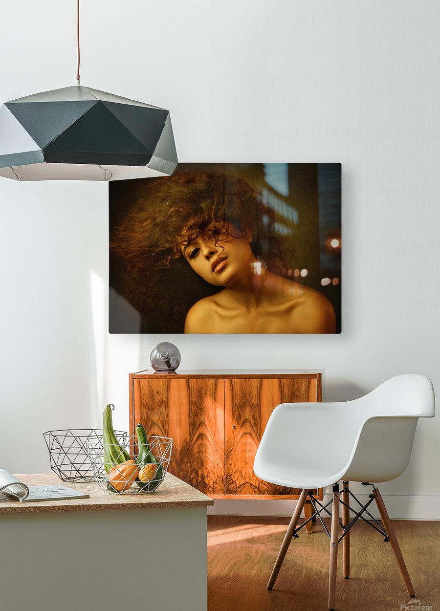 Sabina  HD Metal print with Floating Frame on Back