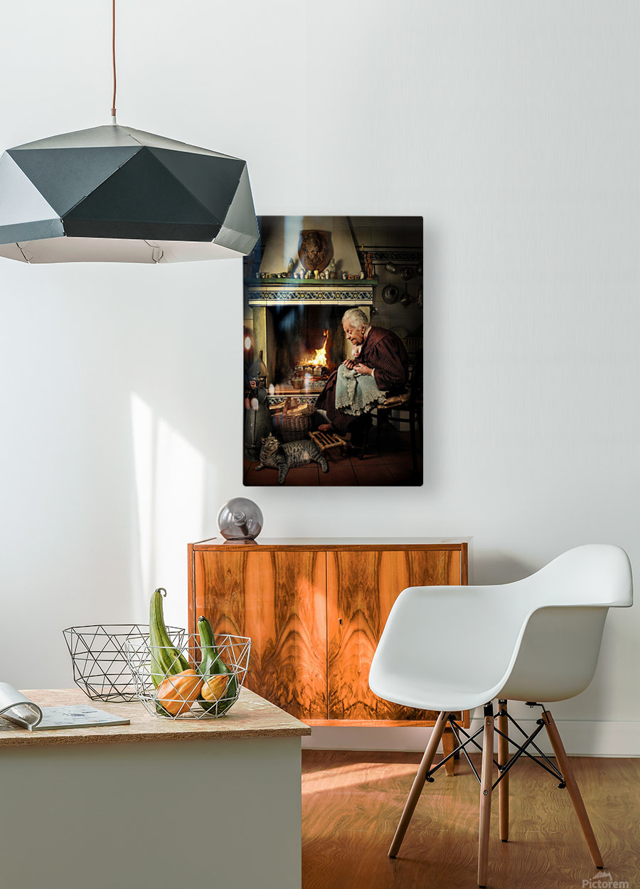 Dear Cat.... Once upon a time...  HD Metal print with Floating Frame on Back