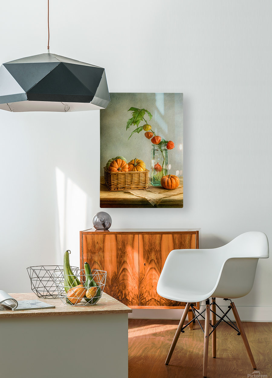 Autumn  HD Metal print with Floating Frame on Back