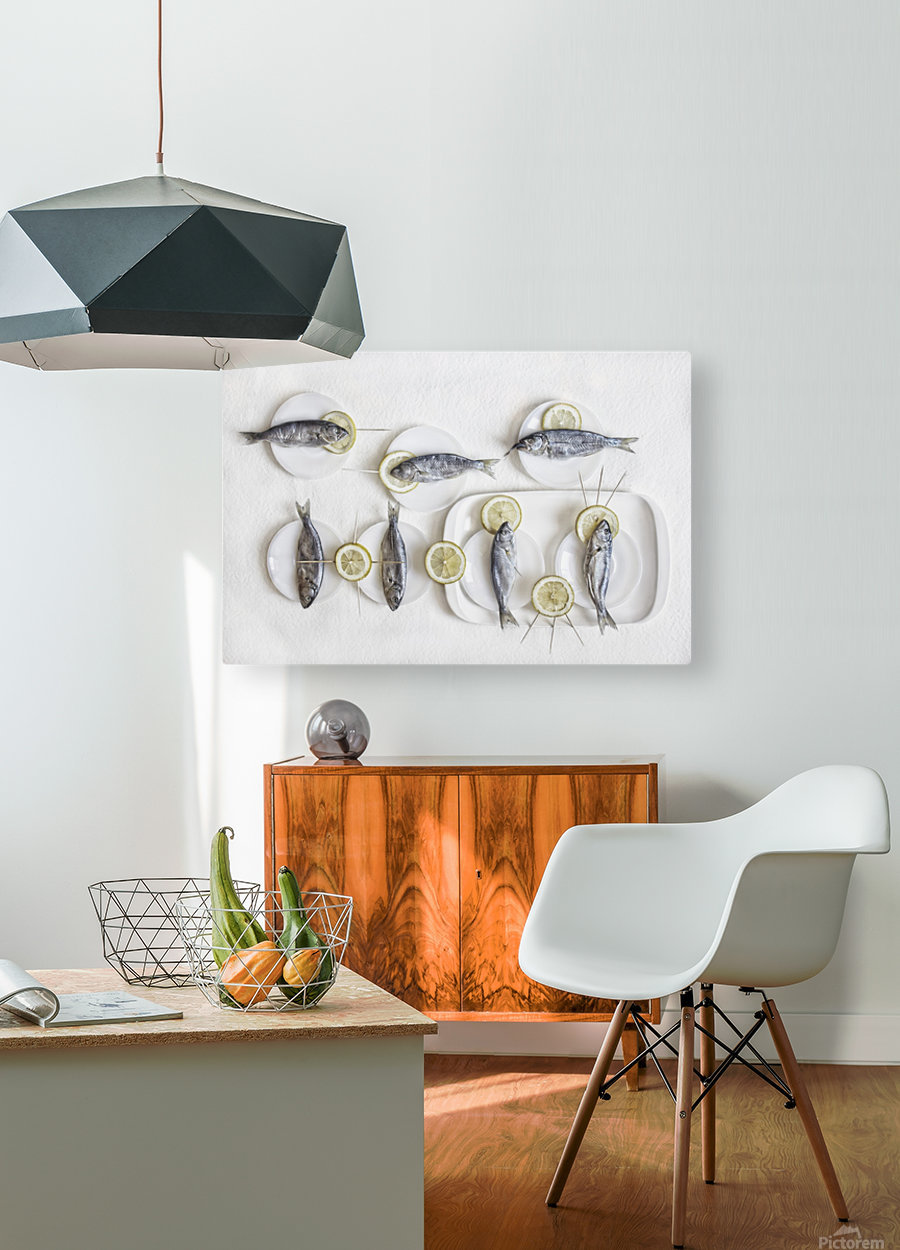 Still Life with Fish  HD Metal print with Floating Frame on Back