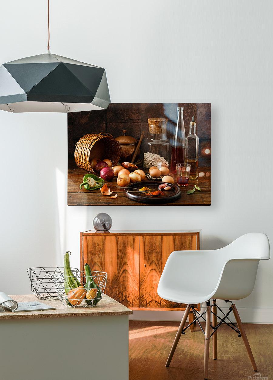 Smells  HD Metal print with Floating Frame on Back