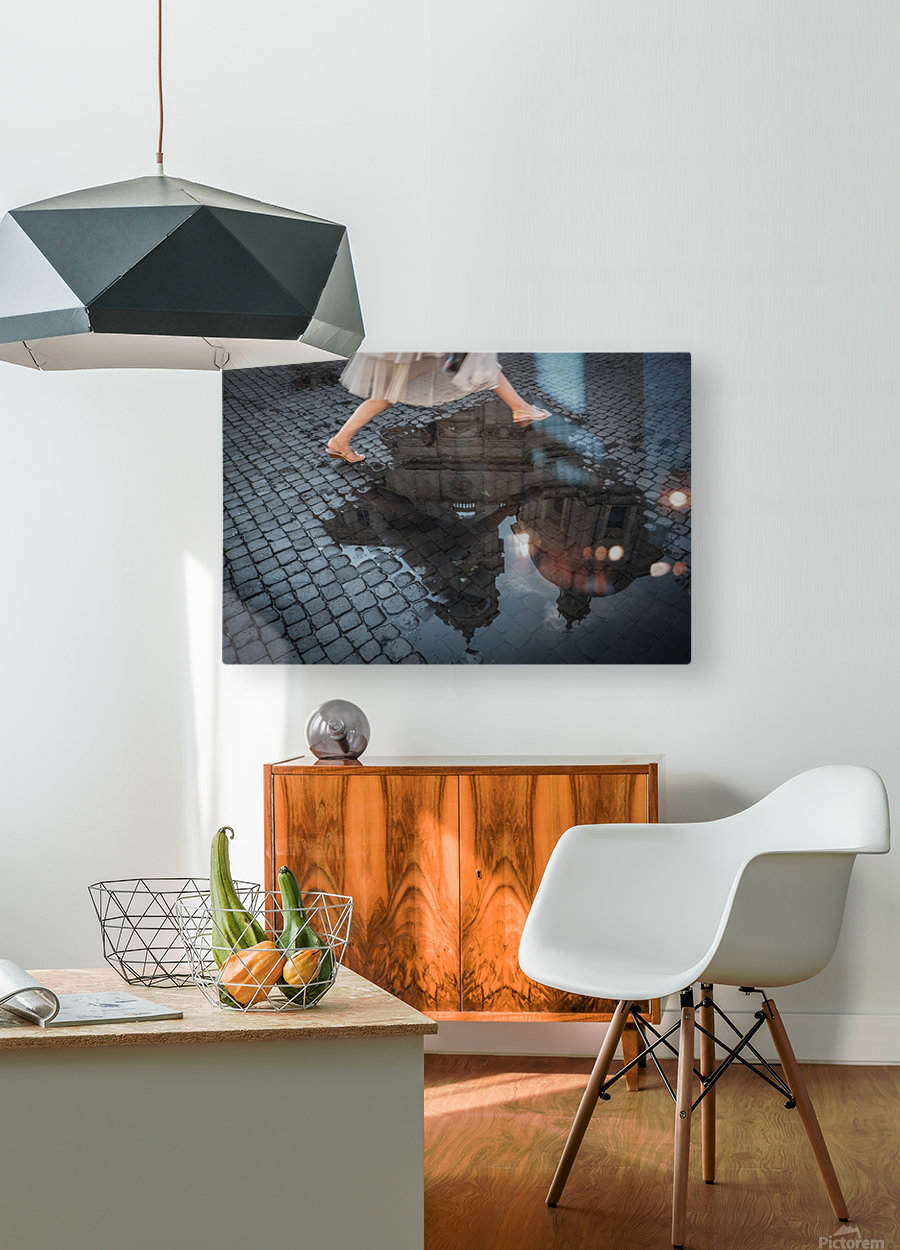 Jump  HD Metal print with Floating Frame on Back