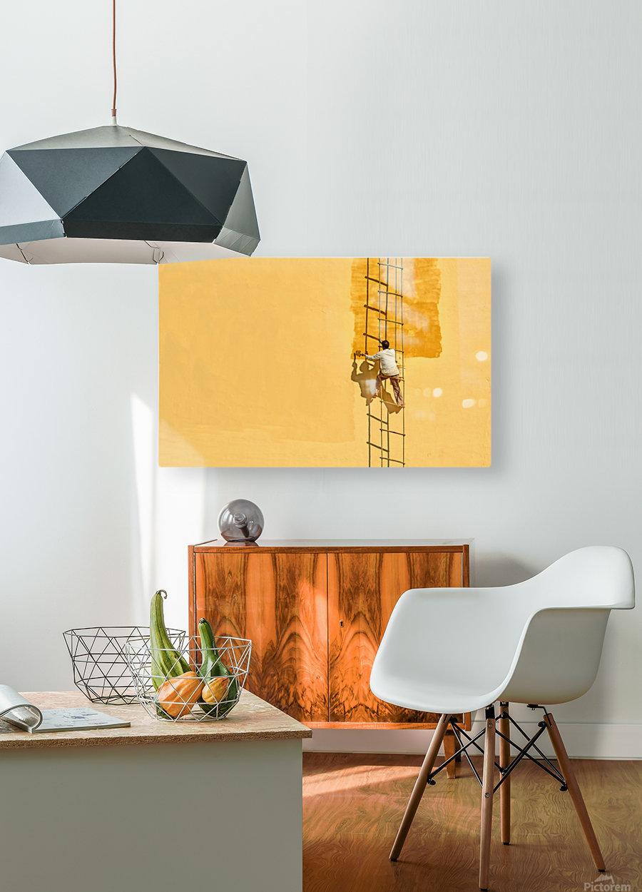Der Anstreicher  HD Metal print with Floating Frame on Back