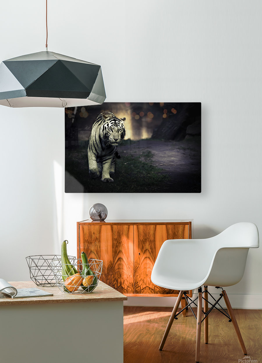 White walker  HD Metal print with Floating Frame on Back