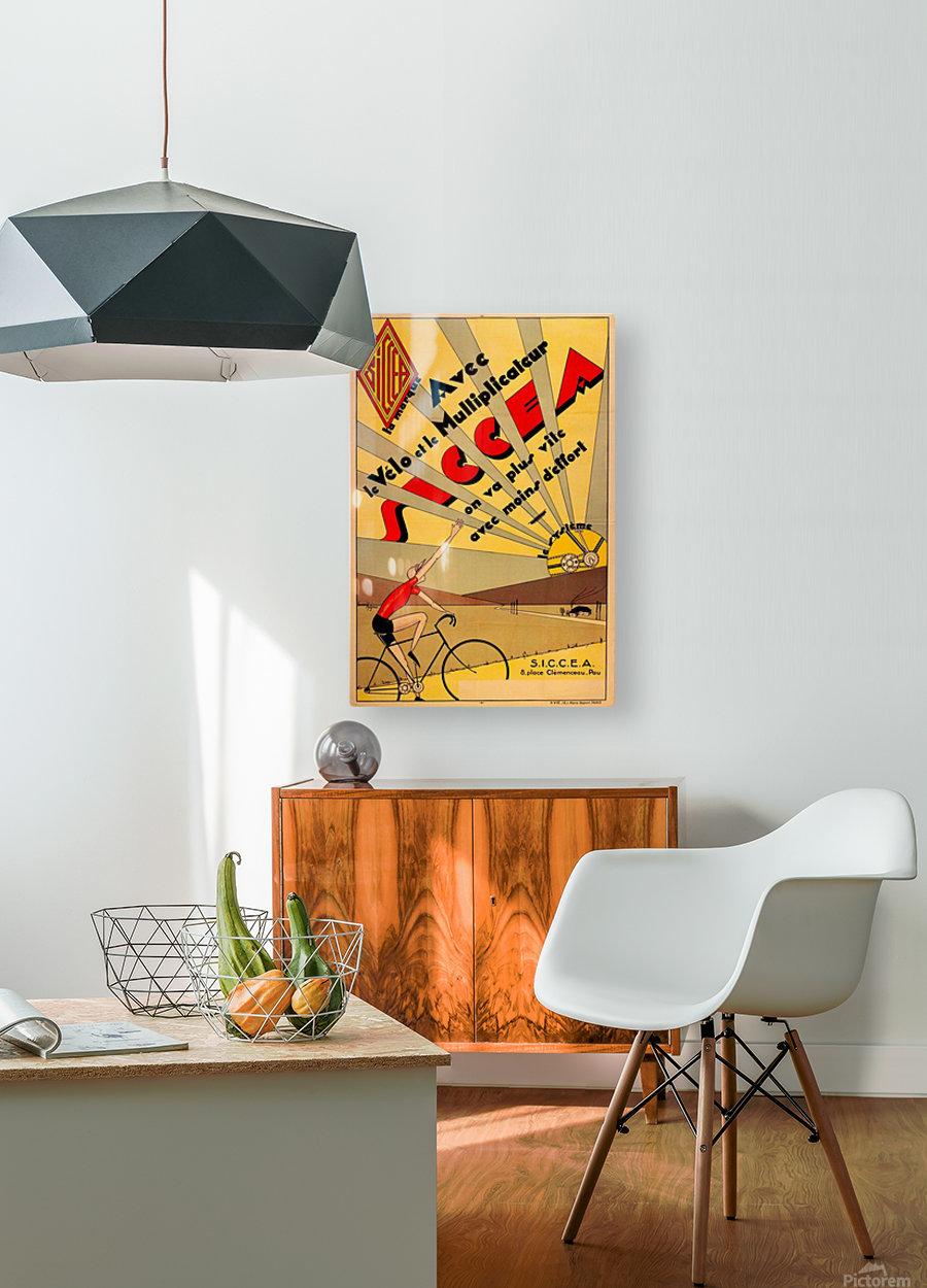 SICCEA original vintage poster  HD Metal print with Floating Frame on Back