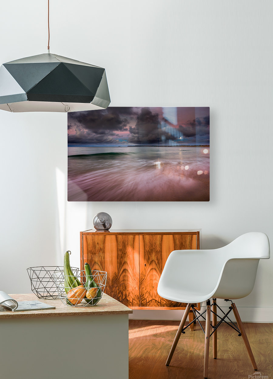 Carbis Bay moonlight  HD Metal print with Floating Frame on Back