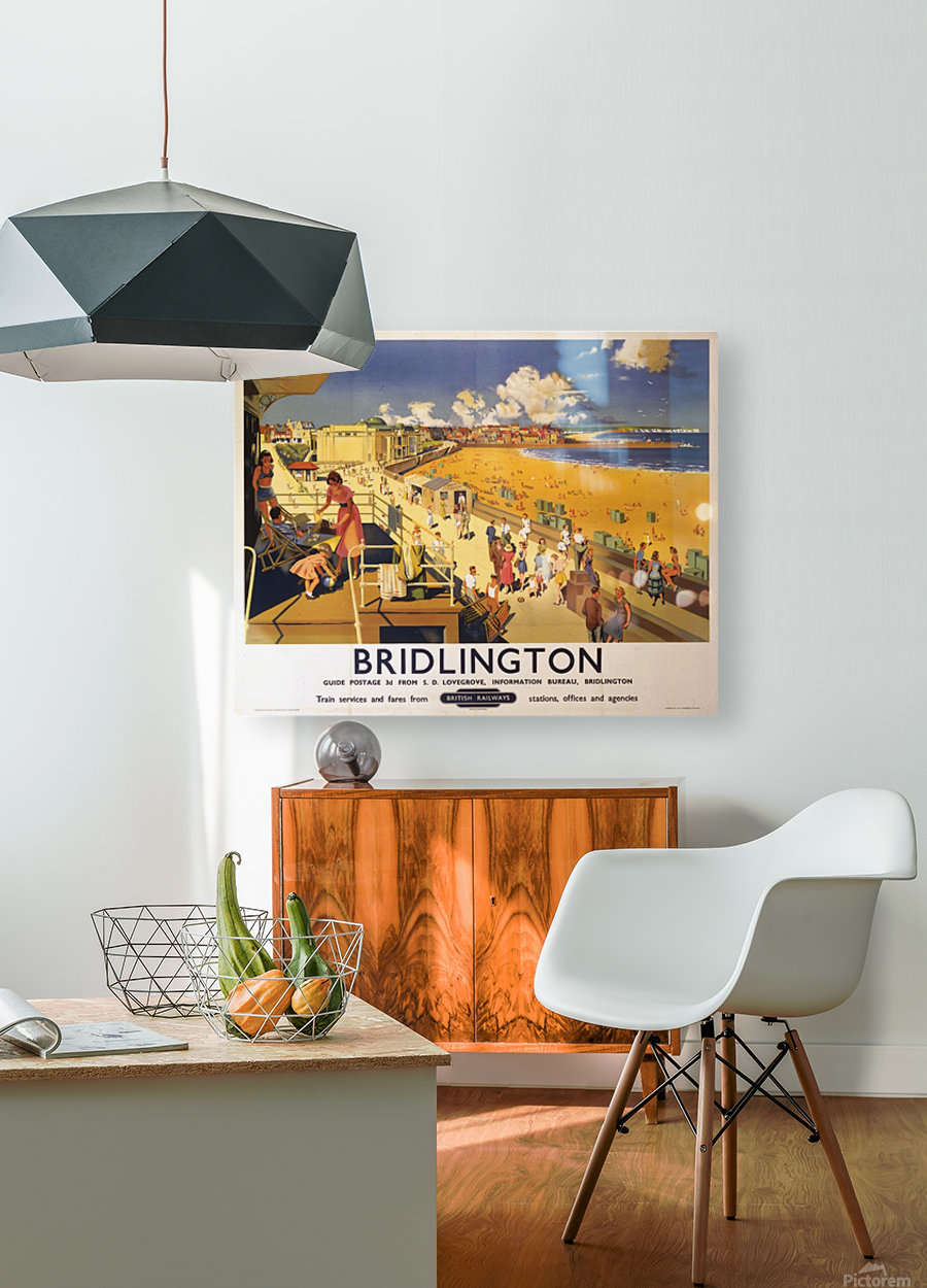 Bridlington poster Blake, F Donald 1950  HD Metal print with Floating Frame on Back
