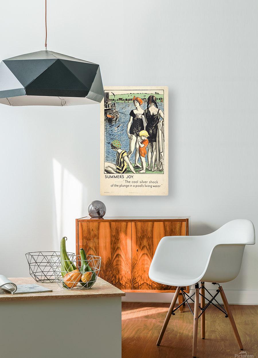 Summer Joy  HD Metal print with Floating Frame on Back