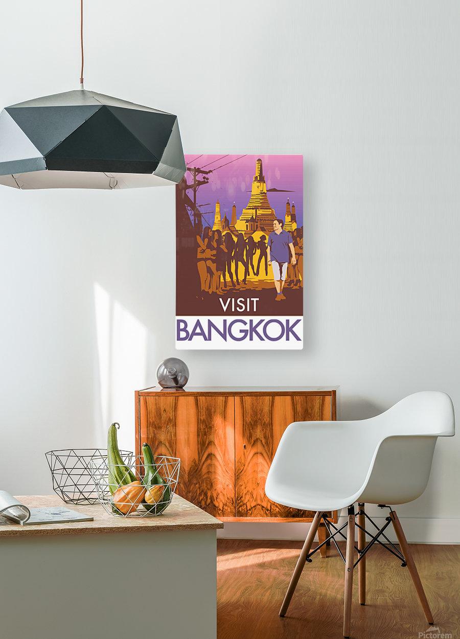 Visit Bangkok  HD Metal print with Floating Frame on Back