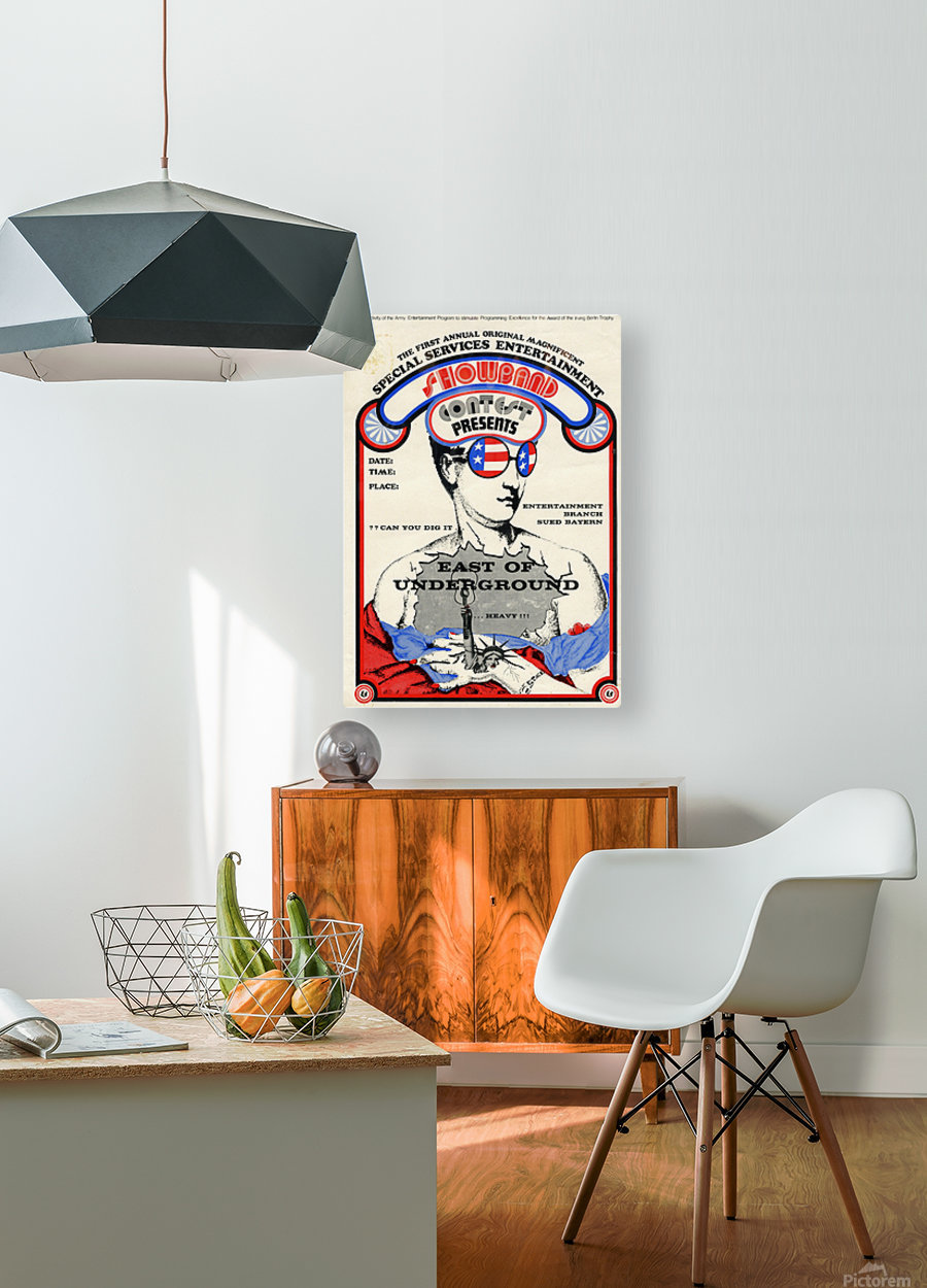 East of Underground Poster WEB USE  HD Metal print with Floating Frame on Back