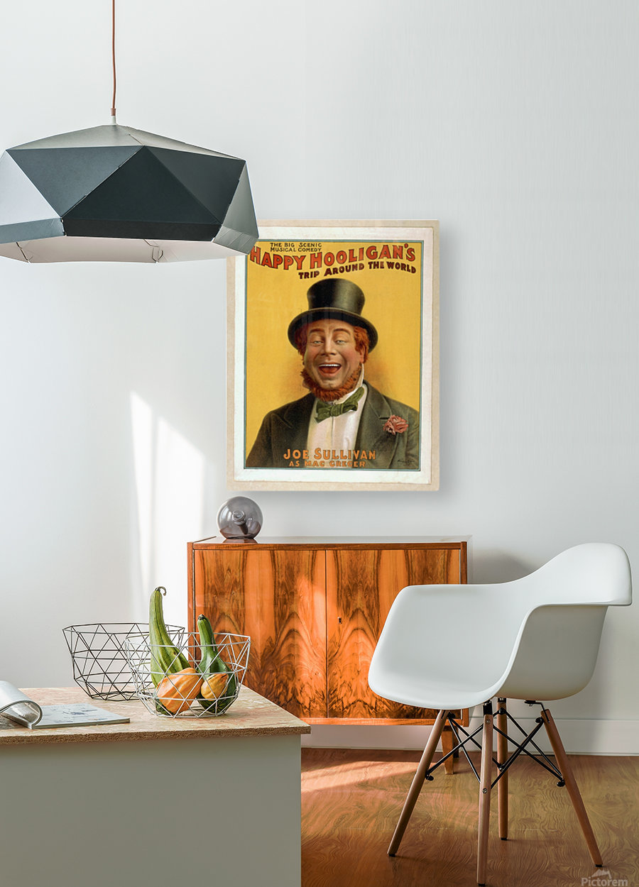 Happy Hooligan's Trip around the world  HD Metal print with Floating Frame on Back