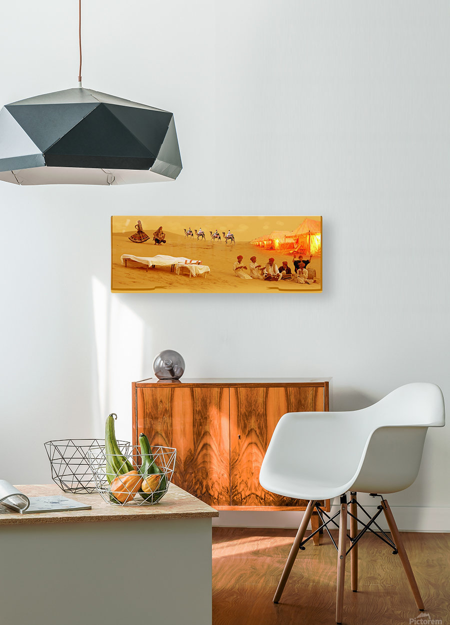 Rajasthan Tours  HD Metal print with Floating Frame on Back