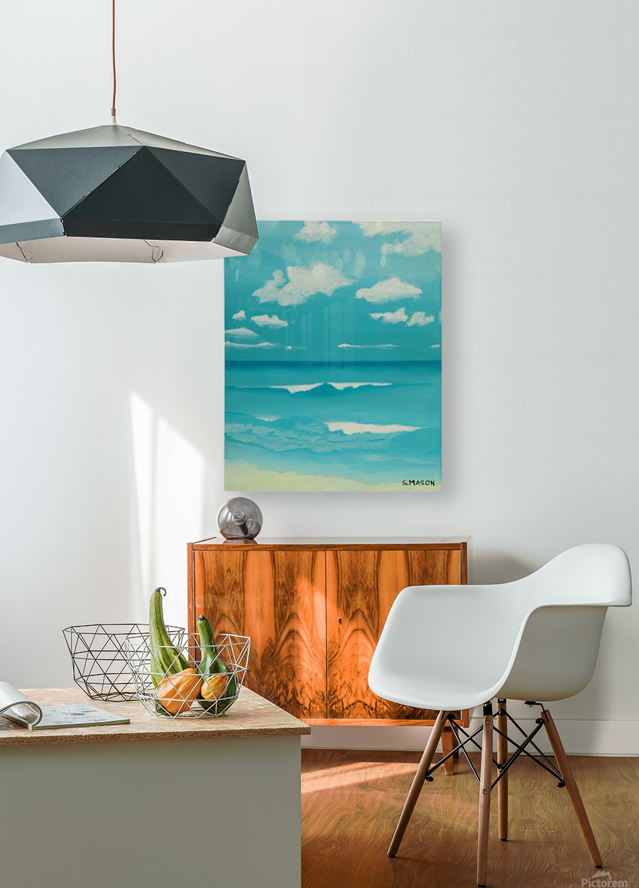 Gone to the beach.  HD Metal print with Floating Frame on Back