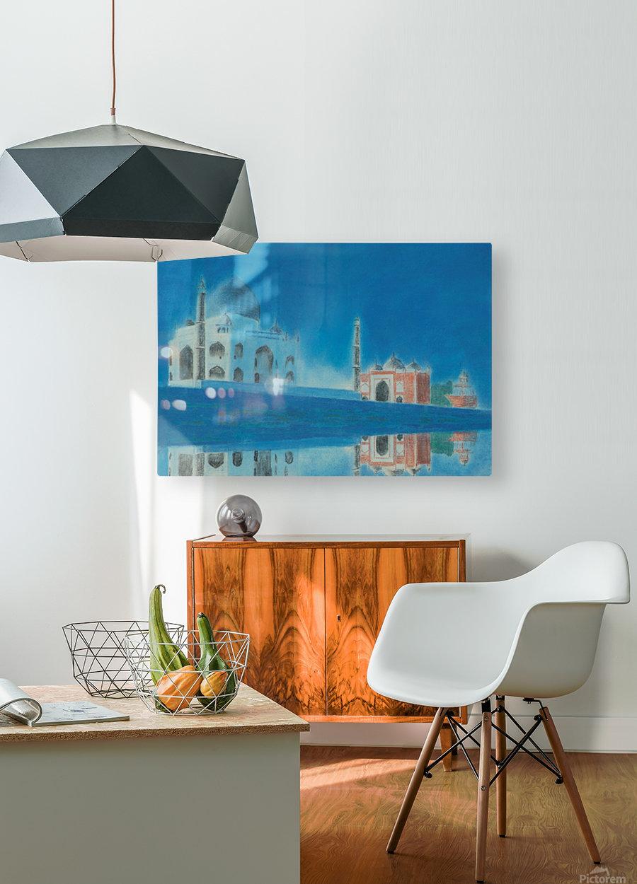 Taj.  HD Metal print with Floating Frame on Back