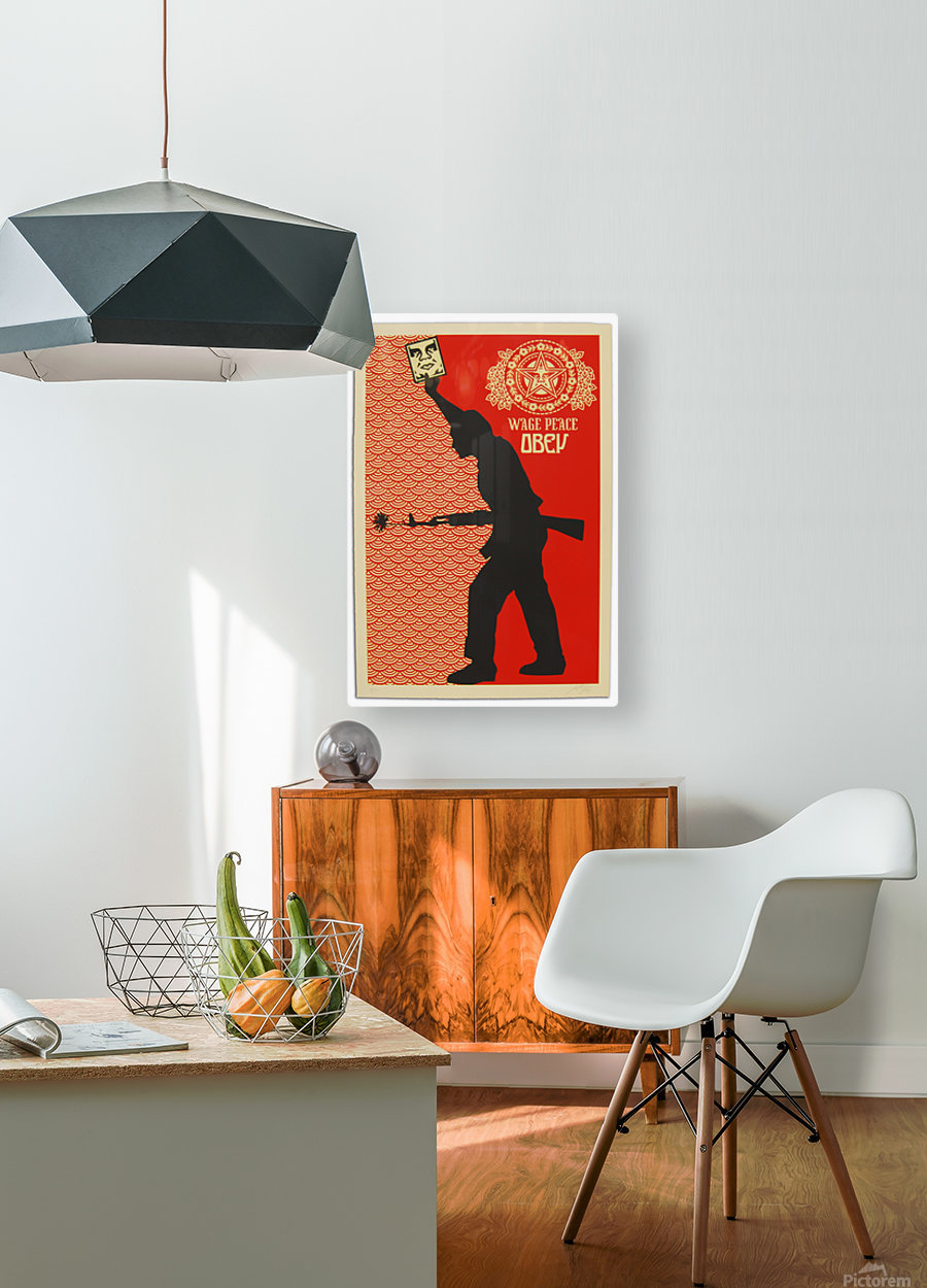Wage Peace Obey poster  HD Metal print with Floating Frame on Back
