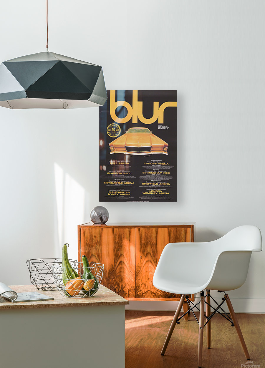 Blur  HD Metal print with Floating Frame on Back