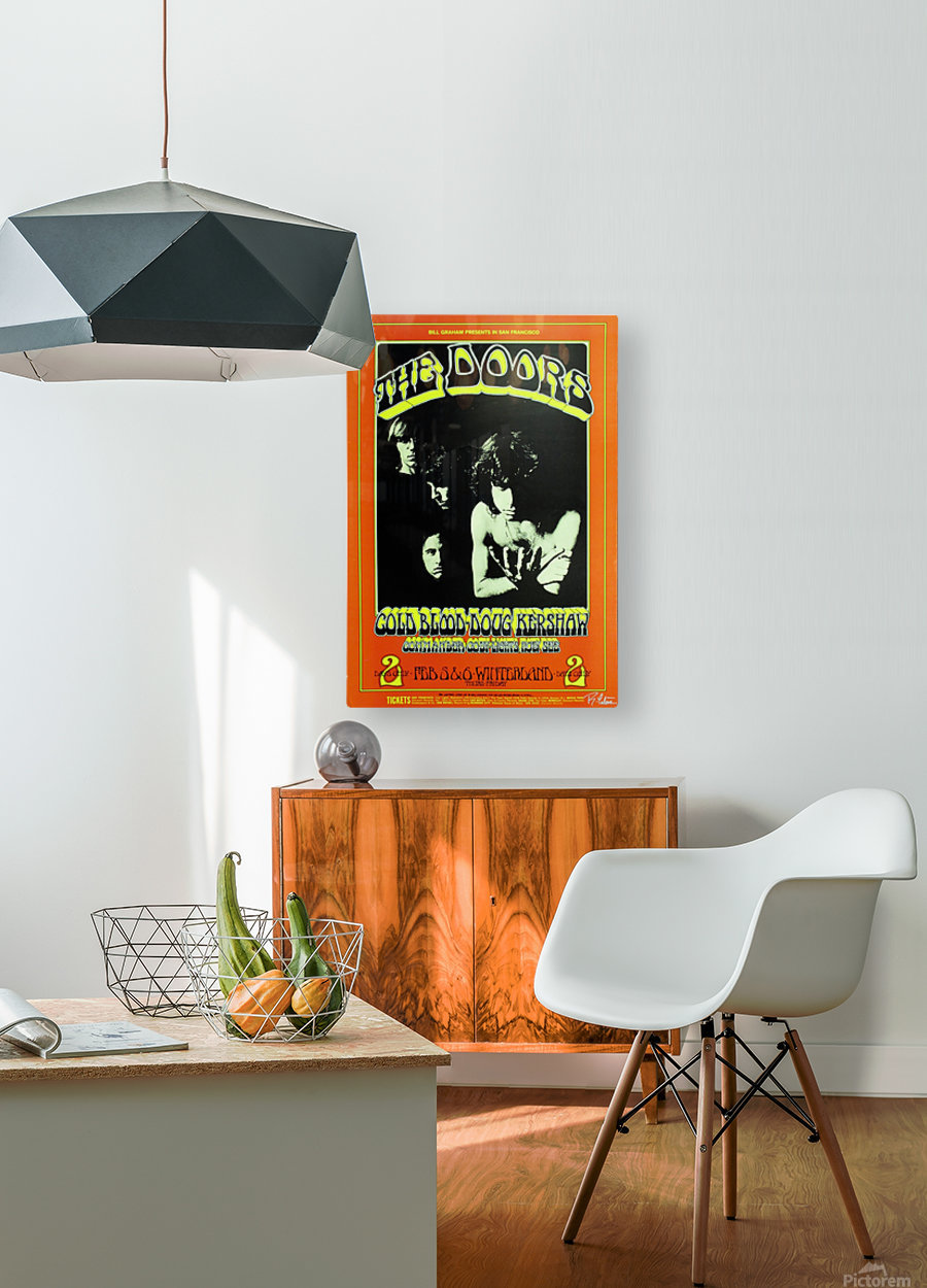The Doors  HD Metal print with Floating Frame on Back