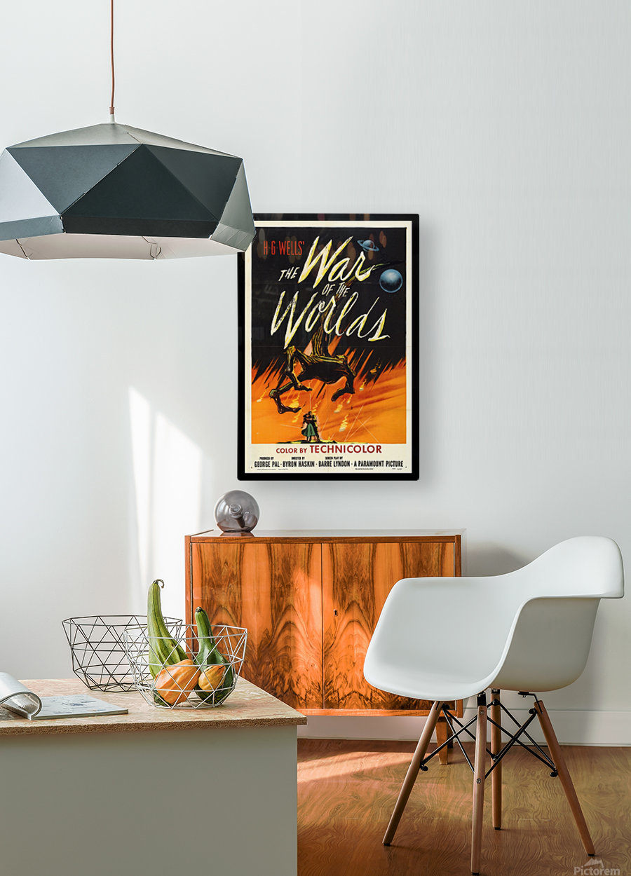 The War of the Worlds  HD Metal print with Floating Frame on Back