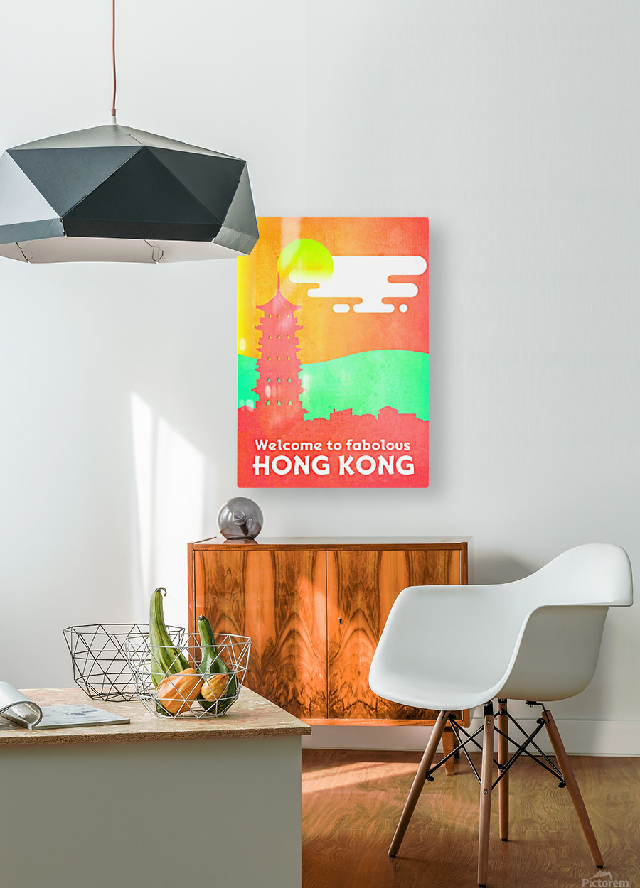 Welcome to Fabolous Hong Kong  HD Metal print with Floating Frame on Back