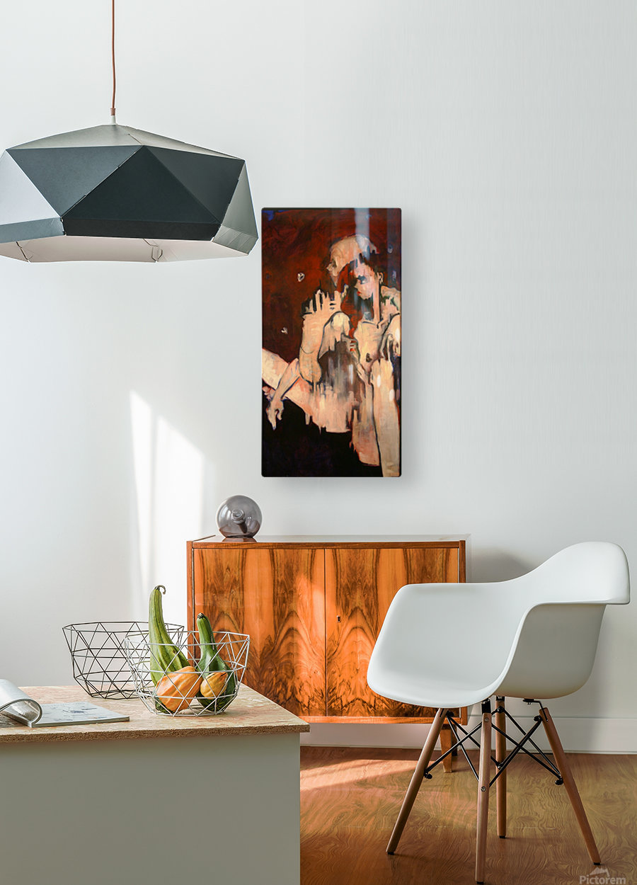 Sonny & Clay  HD Metal print with Floating Frame on Back