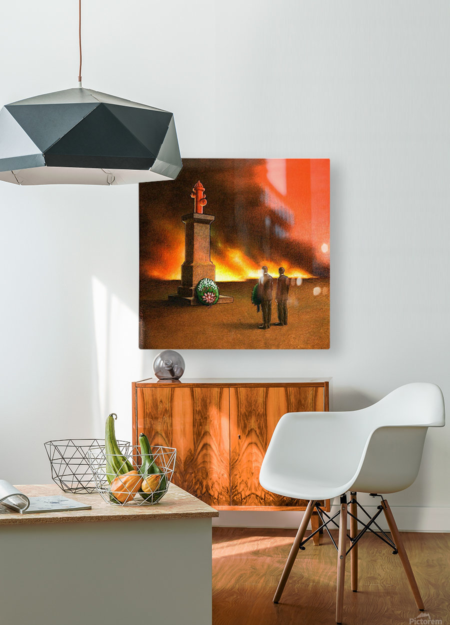 Monument  HD Metal print with Floating Frame on Back