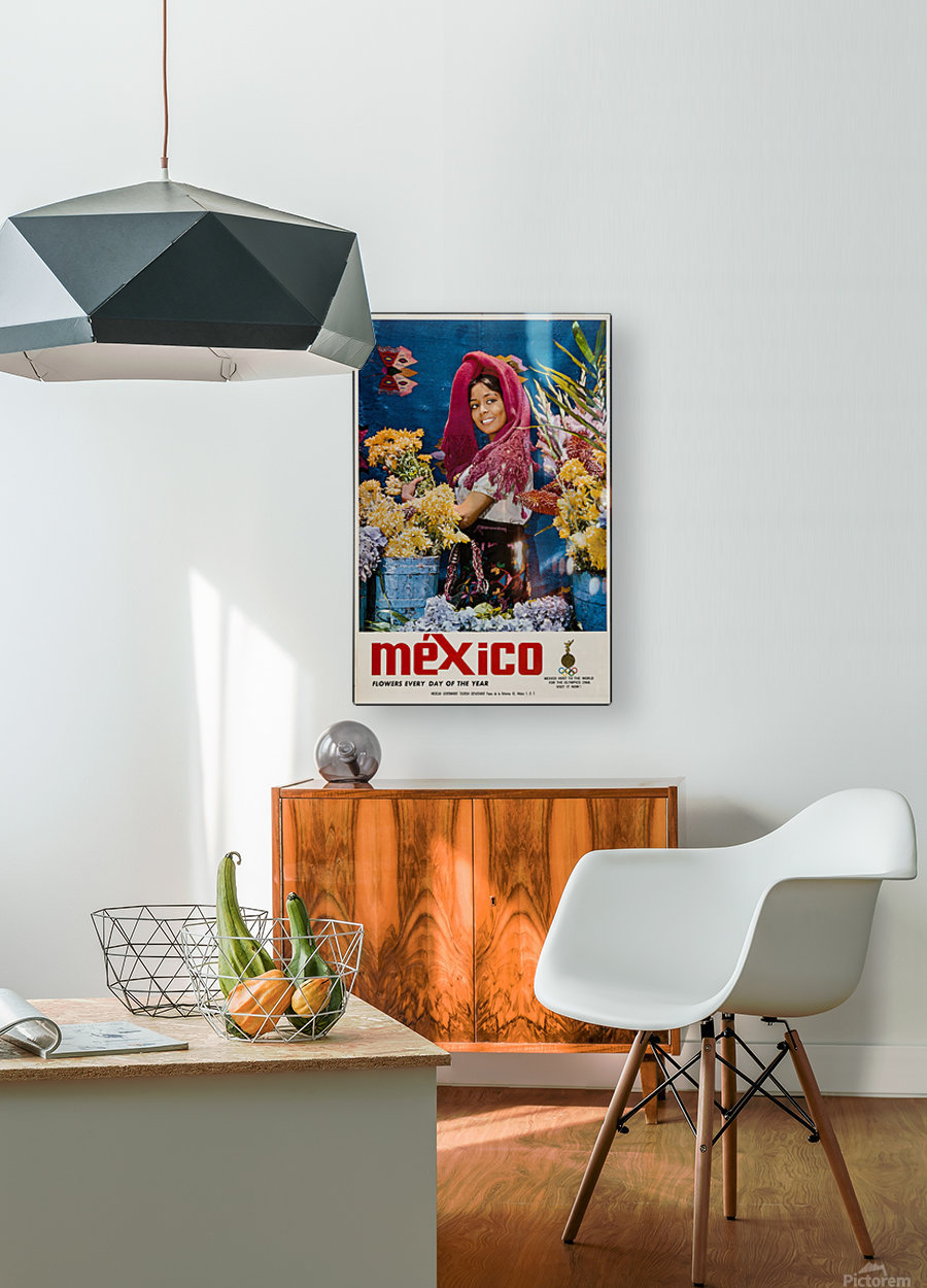 Mexico Flowers every day of the year  HD Metal print with Floating Frame on Back