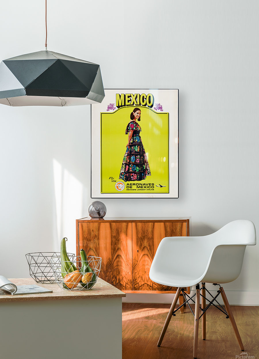Aeronaves de Mexico Poster  HD Metal print with Floating Frame on Back