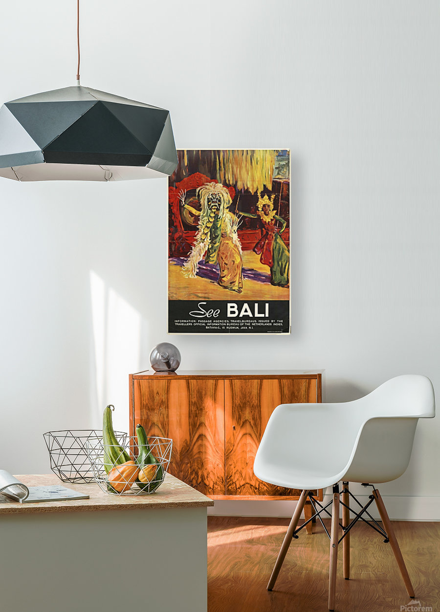 See Bali  HD Metal print with Floating Frame on Back