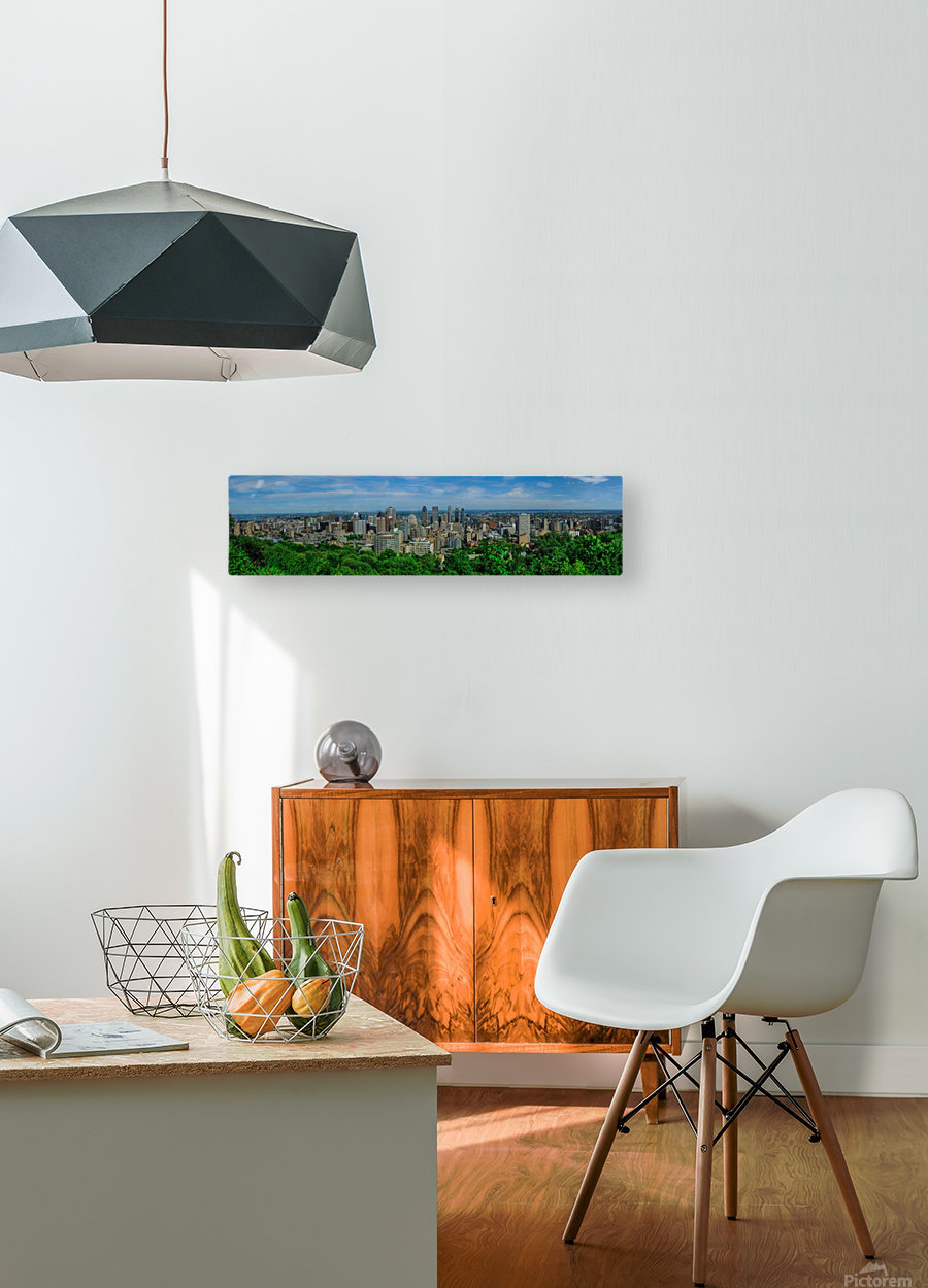 montreal panorama  HD Metal print with Floating Frame on Back