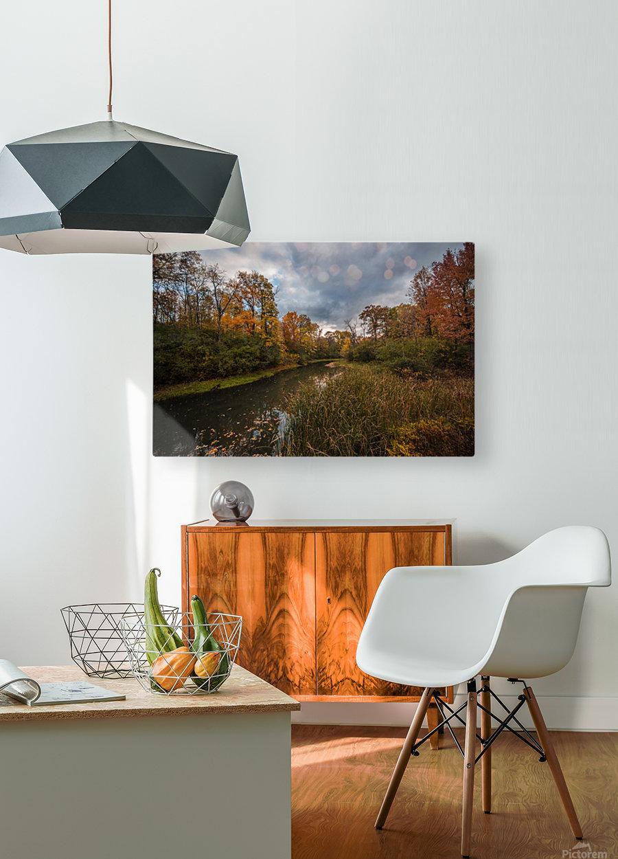 River side  HD Metal print with Floating Frame on Back