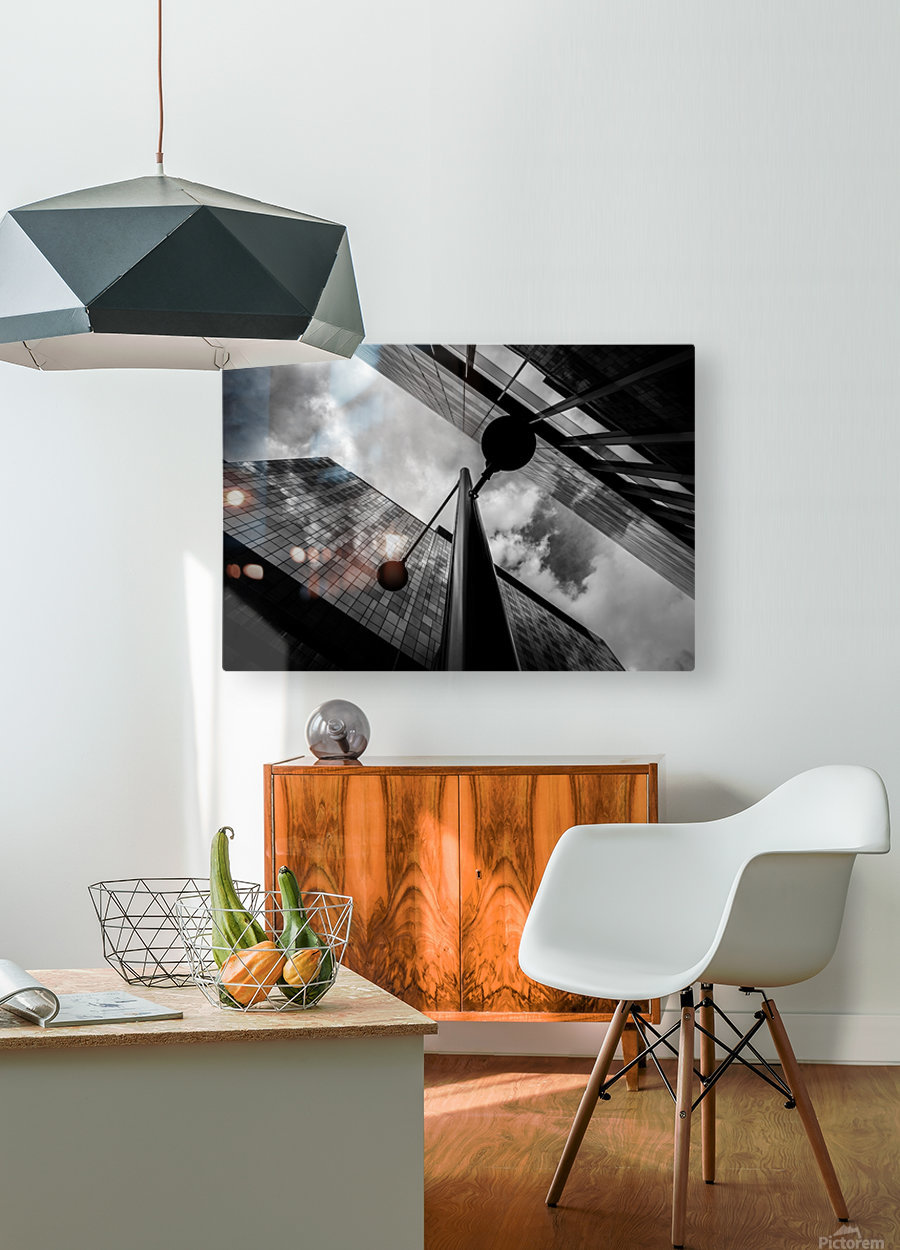 W&B  HD Metal print with Floating Frame on Back