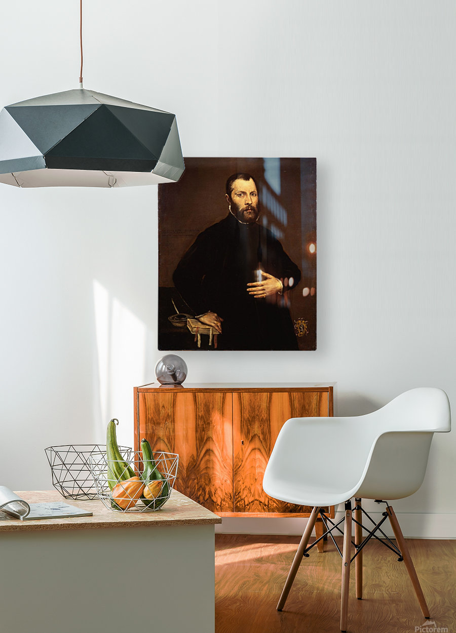 Portrait of a gentleman  HD Metal print with Floating Frame on Back