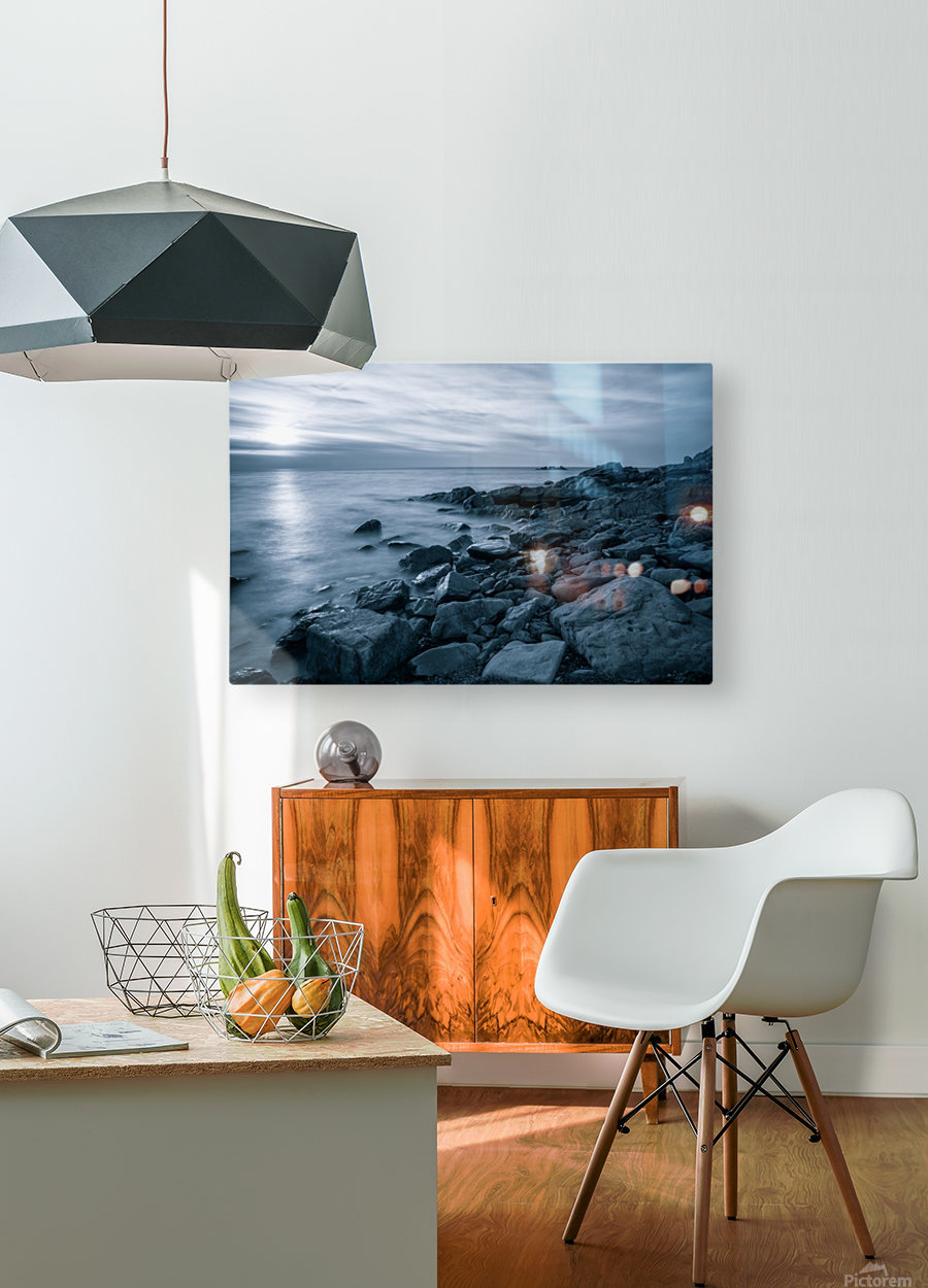 Moody Blue Presqu'ile  HD Metal print with Floating Frame on Back