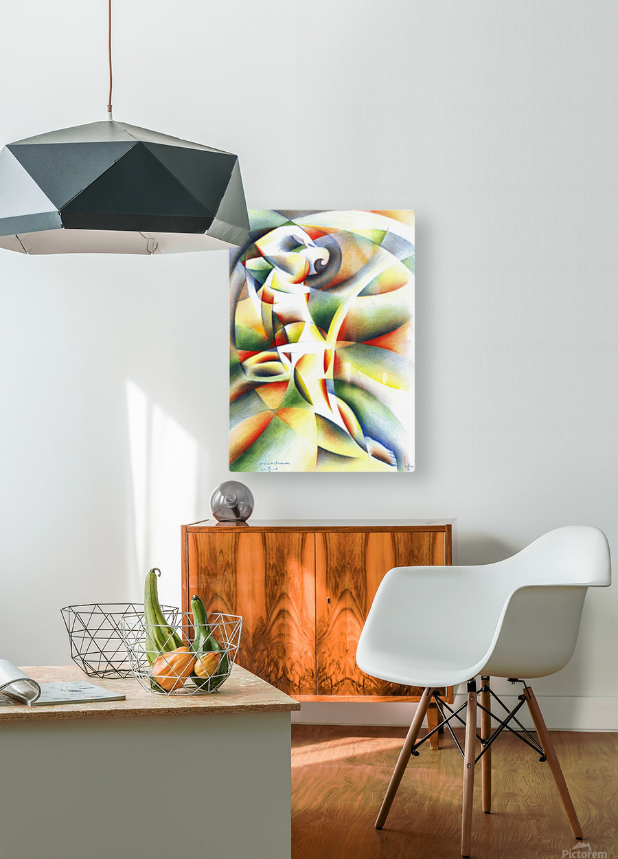 Roundism - 12-10-16  HD Metal print with Floating Frame on Back